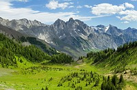 View south from Sylvan Pass, Height-of-the-Rockies Provincial Park British Columbia Canada