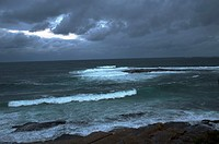 stormy sea and cloudy sky, Cronulla