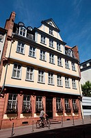 Johann Wolfgang von Goethe´s birthplace, Goethe House is next door to the Goethe museum in Frankfurt am Main, Germany, Europe