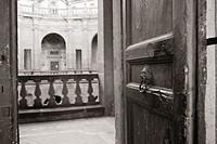 Entrance in Baroque Terrace, Caprarola, Italy