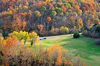 Autumn along Natchez Trace Parkway and US 96 in Tennessee.