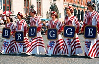 cheerleaders of Bruges, Belgium