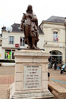 statue of René Descartes French philosopher in his hometown of The Hague descartes