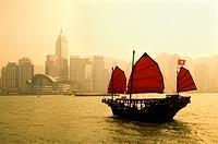 Hong Kong, Victoria Harbour, Junk