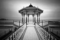 The Victorian Bandstand recently restored, Brighton, Sussex, England