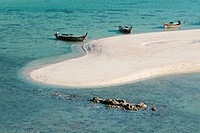 The famous white strip of sand, part of sunrise beach,on Ko Lipe,Thailand