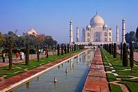 The Taj Mahal and gardens, Agra, Uttar Pradesh, India