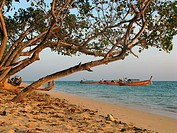 This beach stretches along the eastern coast of Ko Ngai, a pretty island in the Andaman Sea and part of Krabi Province in Thailand.