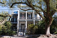 Famous Brevard-Rice House, former home of Anne Rice, in Garden District of New Orleans