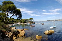 Cap d´Antibes, small harbour, French Riviera