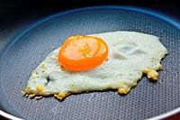 Egg yolk in a fryer