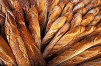 France-Aquitaine-Dordogne- ´Baguette´  french breads at Montpon Menesterol.