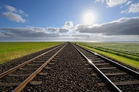 Railway track, Germany, Schleswig Holstein, Sylt, North Frisian Islands, North Sea,