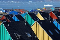 Colorful houses, Ilulissat, Icefjord, Greenland