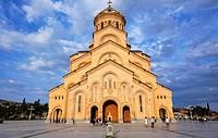 Georgia - Tbilisi - Tsminda Sameba Cathedral