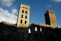 Monastery of Sant Pere de Roda, XI century, Port de la Selva, Girona, Catalonia, Spain