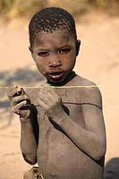 Portrait of Hadza boy, ethnic group living in the Lake Eyasi area, Tanzania