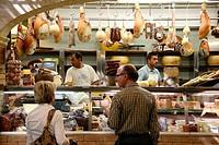 cheese shop, San Benedetto Market, Cagliari, Sardinia, Italy