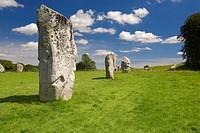 Avebury, Prehistoric Stone Circle, Avebury, Wiltshire, England, UK.