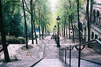 Foyatier street in Montmartre is one of the most famous street in Paris as consisting solely of stairs in Montmartre