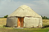 Yurt, typical Central Asia dwelling.