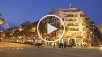 La Pedrera _ Casa Milà _ in Barcelona city, Spain