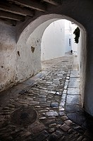 Arc of a street in Vejer, Cadiz, Andalusia, Spain