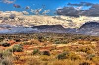 Clearing Storm, High Desert, Hurricane Cliffs and Pine Valley Mountains near Hurricane, Utah, USA