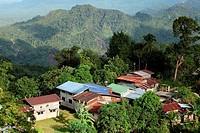 View Of A Bidayu Highland Village At Borneo Highland Kidding Village, Kuching, Sarawak