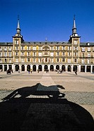 The Plaza Mayor was built during the Habsburg period and is a central plaza in the city of Madrid, Spain  It is located only a few Spanish blocks away...