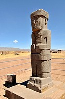 Tiwanaku, (Spanish: Tiahuanaco and Tiahuanacu) is an important Pre-Columbian archaeological site in western Bolivia. Ponce stela in the sunken courtya...