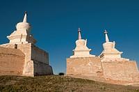 chedis at Kharakorim Monastery in Central Mongolia