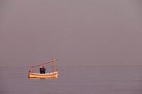 Fishermen in Illes Medes - Medes Island-, Costa Brava, Girona, Spain