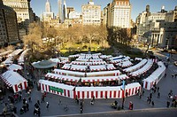 The Union Square Holiday Market in New York Over 100 merchants participated in the annual market, in it´s 18th year