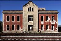 Railway Station  Mora la Nova, Tarragona, Catalonia, Spain, Europe