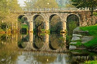 The bridge over the river Verdugo  A Lama, Pontevedra, Galicia, Spain
