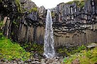 Basaltic columns at Svartifoss, Iceland