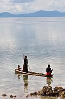 Borneo shell fisherman