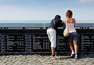 The fishermen´s memorial in Urk, a traditional fishing village in the Netherlands