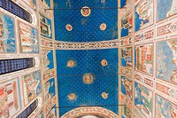 Giotto frescoes in the Scrovegni Chapel, or Cappella degli Scrovegni, a church in Padua, Veneto, Italy
