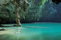 Sa phra nang holy princess pool, a hidden lagoon in Laem phra nang, Railay, Krabi province, Thailand