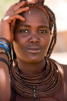 Portrait of a Himba Woman - Damaraland, Kunene Region - Namibia, Africa