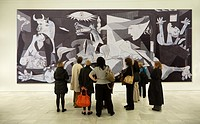 ´Guernica´ painting by Picasso at the Reina Sofia National Museum of Art, Madrid, Spain