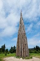 Installation by Andy Goldsworthy, ´Spire´ in Park Presidio, San Francisco, USA