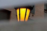 Streetlight and building