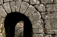 Castro Laboreiro door Castle, Peneda Geres National Park, Melgaco, Minho, Portugal
