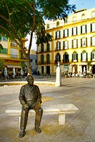 Sculpture of Picasso in Plaza de la Merced, Malaga, Costa del Sol, Andalucia, Spain, Europe