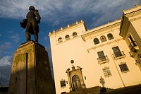 Palacio Nacional and Statue of General Jose Maria Obando at Popayán, Colombia, South America