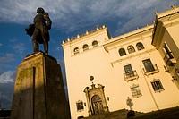Palacio Nacional and Statue of General Jose Maria Obando at Popayán, Colombia, South America