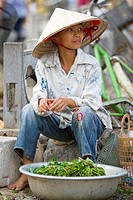 vendor selling products in the market